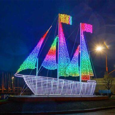 Dun Laoghaire Harbour Ship
