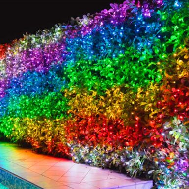 Multicoloured Curtain Lights